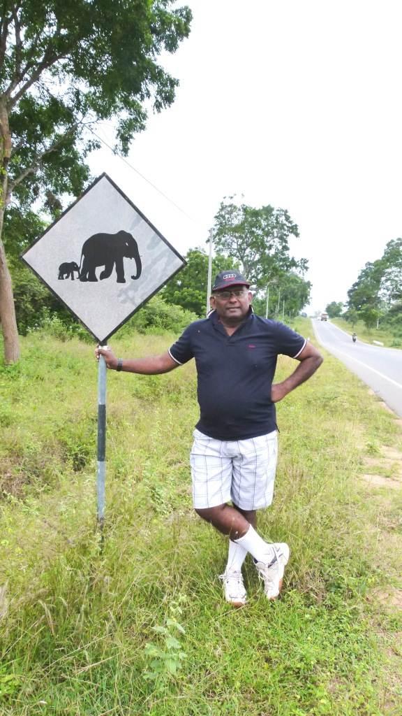 Beware of Wild Elephants sign